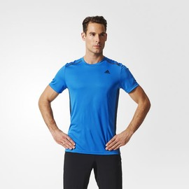 ADIDAS  climacool系列 男款圓領排汗衫-藍 AI0321