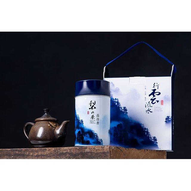 ~吉品香茗茶~禪定峰茗系列 騰雲級~壺器梨山鐵罐提盒^(一組150gX2罐^)