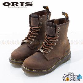 ~哈鞋網~ORIS 男款 真牛皮鞋面 美式戰鬥中筒靴 粗曠風格休閒靴 SB15940C03