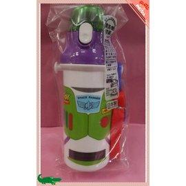 【紫貝殼】『DC37-2』日本製 日本彈蓋式直飲式水壺480ml [玩具總動員/巴斯光年] ~附可拆式背帶及姓名貼紙