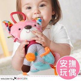 立體貓咪猴子動物玩偶 寶寶安撫玩具【HH婦幼館】