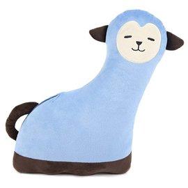 聰明媽咪~韓國KIDU奇荳~安全抱抱枕^( 款^)藍~我的超人爸爸~三胞胎~出門 安全帶護