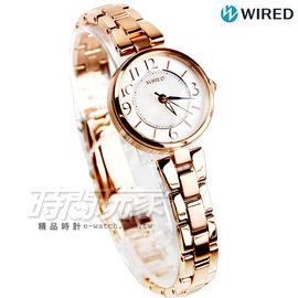 WIRED f 東京輕旅行 女錶 白蝶貝錶盤 白貝x玫瑰金電鍍 AGEK431J~VC01