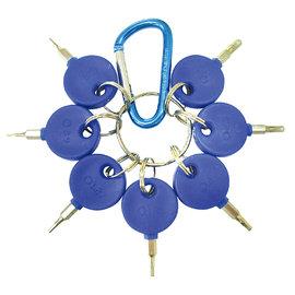 DIY 起子板手 神田 HC~923 鑰匙型六角起子組 7PCS ^(藍柄^) 具