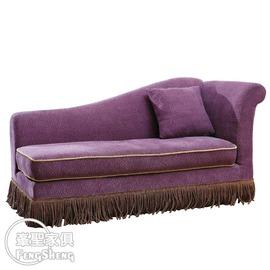 ~峯聖家俱~寶格麗紫色貴妃椅^(右^)-YC346~3