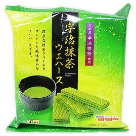 【吉嘉食品】中新 抹茶威化餅 1包55公克65元,日本進口,另有法蘭酥{4516212961498:1}