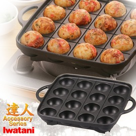 探險家戶外用品㊣CB-P-TAF 日本岩谷Iwatani鋁合金章魚燒烤盤 章魚燒模 (孔徑4CM) 不適用電磁爐