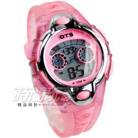 O.T.S 簡約多 電子錶 女錶 夜光照明 電子錶 OT354L粉