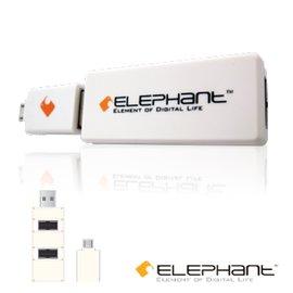 ELEPHANT ON~THE~GO手機擴充3個USB埠^(OTG~002~W^)白