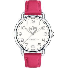 COACH Delancey 摩登馬車圖騰腕錶^(桃紅~36mm^) CO14502560