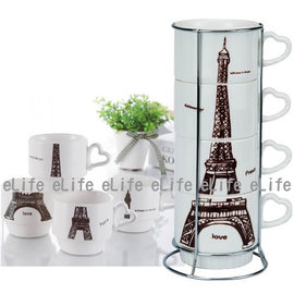 eLife 艾菲爾疊疊陶瓷杯組