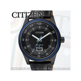CITIZEN 星辰 手錶 CITIZEN AW1275~01E 男錶 指針錶 皮革錶帶