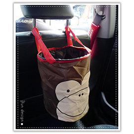 【Q禮品】B2980 車用動物摺疊收納筒-多款/韓系垃圾桶/魔鬼氈 多功能 收納桶/汽車掛式 折疊 收納籃/飲料放置