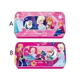 迪士尼 Frozen 冰雪奇緣大開窗雙層鐵筆盒.卡通文具 開學