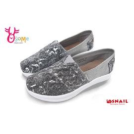 SNAIL蝸牛休閒鞋 真皮 厚底休閒鞋 懶人鞋C4767^#銀色◆OSOME奧森童鞋 小朋