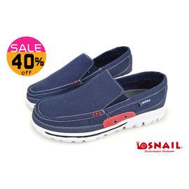 蝸牛SNAIL男休閒鞋 簡約 休閒 平底懶人鞋 帆船鞋 C4793藍色◆OSOME奧森童鞋