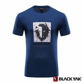 ~BLACKYAK~中性YAK ICE 犛牛短袖T 恤~深藍色 BY161NC50158