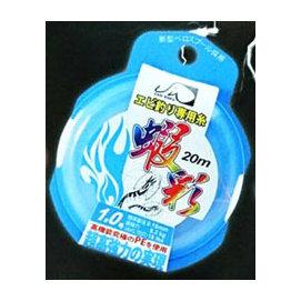 ◎百有釣具◎蝦彩 釣蝦專用系 蝦線 布線(PE) [淺藍外包裝]: P-12 (PE系 白色) 20M #0.2/#0.3/#0.4