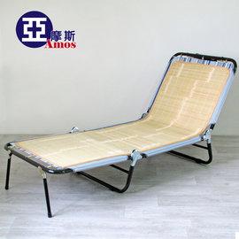 和風五段式三折包床折疊躺椅 天然竹片包邊涼床折疊床 涼椅 涼蓆 收納 休閒椅摺疊椅 MIT