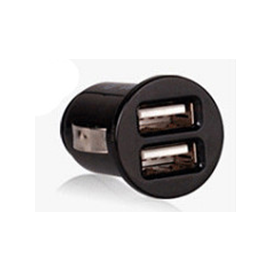 隱藏式 手機充電器點煙頭2.1 A iphone/ipad/htc/samsung行車紀錄器/GPS 雙USB汽車用充電器/車充頭 [CII-00010]