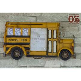 工業風鐵藝相框 美式復古校園巴士相框鐵藝 餐廳裝潢 居家裝飾 場景布置~CS鞋包e舖~