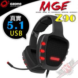 ^~ PC PARTY ^~ OZONE RAGE Z90 USB 真實 5.1 立體聲