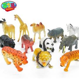 ~ 動物模型~哥士尼野生動物玩具模型套裝森林兒童仿真小孩 老虎大象