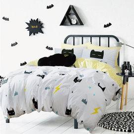 ~PAINT~北歐風格,kuso蝙蝠男俠,精梳棉,雙人床包,兩用薄被套四件組 A01121