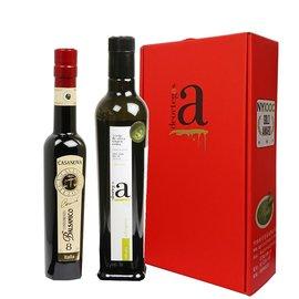 歐洲 橄欖油醋組^(帝歐特級初榨橄欖油 卡薩諾瓦陳年紅葡萄醋~8年^)