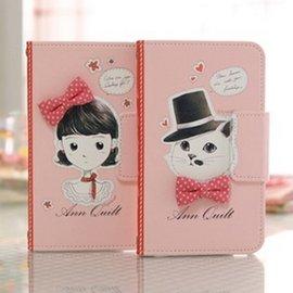Mr.H Ann   Cat 女孩與貓咪 翻頁皮套│NOTE 3 LTE