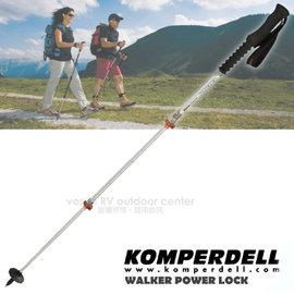 【KOMPERDELL 奧地利】新款 EXPLORER CONTOUR 7075 航太鋁合金強力鎖定泡棉握把健行登山杖(僅215g)(非LEKI)/單支銷售 1742439-10