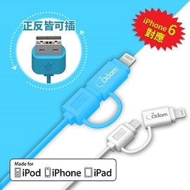 ▲Apple MFi  ~亞果元素~蘋果 MFi iPhone iPad 2合1 Ligh