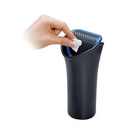 ~GO CAR  車用 ~CARMATE 杯架式小垃圾桶^(碳纖藍^) DZ368