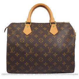 ~8.5成新~Louis Vuitton M41526 Speedy 30 花紋手提包^#