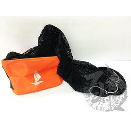 ◎百有釣具◎溪流魚袋雙用型(大) 網可拆裝 ~可當活餌桶也 置物袋 取水袋  側有幫浦放置袋 可摺疊收納 多功能