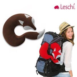 11月 ~原 2380德國萊思綺Leschi旅行枕頭 辦公室、教室午休枕頭~ 狐狸 ^(棕