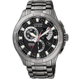 CITIZEN 競速悍將光動能時尚腕錶-黑(BL8097-52E)