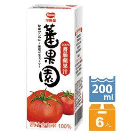 可果美蕃果園 100^%蕃茄蘋果汁200ml~6入