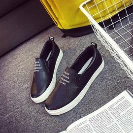 小白鞋樂福鞋女學生懶人鞋 帆布鞋女平底休閒板鞋