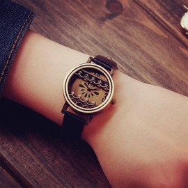 潮流 簡約學生非機械男女生可愛時裝石英情侶手錶一對