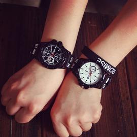 韓國潮錶原宿風學生情侶手錶復古女錶 林彎彎休閒簡約 男錶