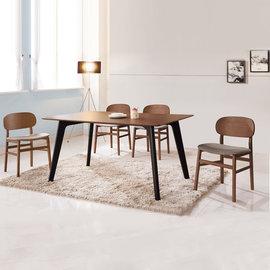 ~ 屋~^~UZ6^~詠昶淺胡桃餐椅^(單只^)UZ6~381~4 免組裝 免 餐桌椅