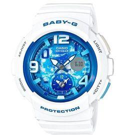 CASIO BABY~G 清澈藍天飛機機翼 雙顯錶~BGA~190GL~7B