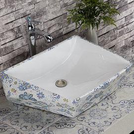 5Cgo ~ 七天交貨~529088333389 鑽石型藝術盆陶瓷洗手盆陶瓷洗臉盆洗手台上