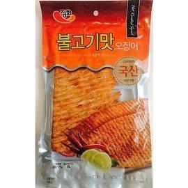 ~易購樂~韓國 超口感魷魚絲 ^(辣味^)  附沾醬 一整片的魷魚喔 真的非常好吃
