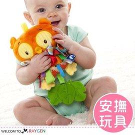 貓頭鷹彩色標籤響鈴寶寶安撫玩具 毛絨玩偶【HH婦幼館】