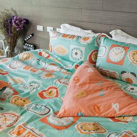 床包 單人~100^%精梳棉~早安 Bonjour~3.5x6.2尺 單人床包^(含1件枕