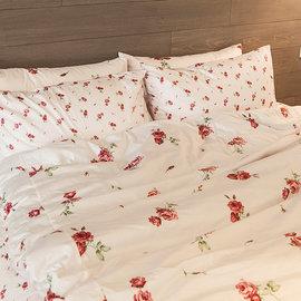 床包 單人~100^%精梳棉~玫果雪酪~粉~3.5x6.2尺 單人床包 AAS101