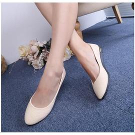魔法鞋櫃  小白鞋 平跟單鞋女鞋平底尖頭鞋女士平跟軟面鞋子