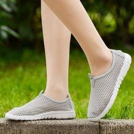 魔法鞋櫃  透氣網鞋女軟底平底休閒網布鞋套腳網紗鞋女士單鞋潮